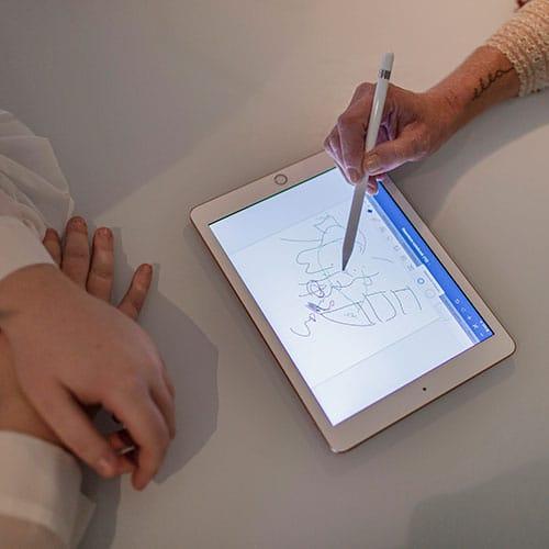 Osteopaat Colette anamnese tekening